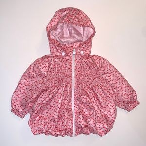 H&M Baby Girl Cherry Windbreaker Jacket Size 9-12m